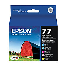 Epson 77 High Yield CyanLight CyanLight
