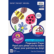 Pacon Fingerpaint Paper 50 Sheets Plain