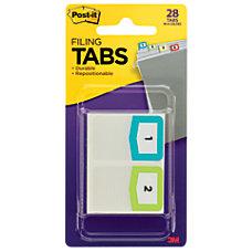 Post it Preprinted Filing Tabs Numbers