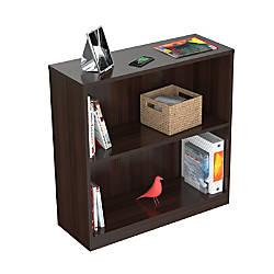 Inval 2 Cube Bookcase Hutch Espresso