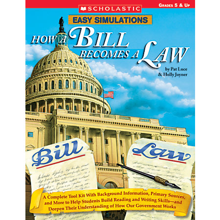 scholastic easy simulations how a bill becomes a law by office depot officemax. Black Bedroom Furniture Sets. Home Design Ideas