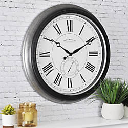 FirsTime Summit Outdoor Round Wall Clock