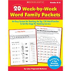 Scholastic 20 Week By Week Word