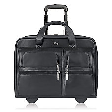 Solo Classic Leather Rolling Case For