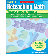 Scholastic Reteaching Math Algebra Readiness