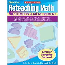 Scholastic Reteaching Math Geometry Measurement