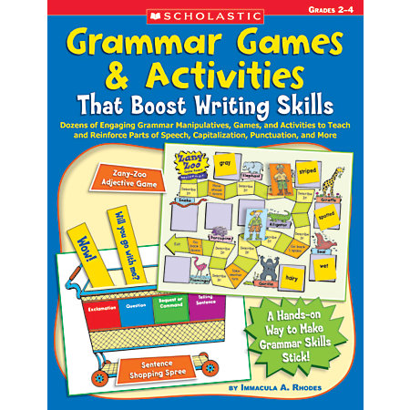 scholastic grammar games activities that boost writing skills by office depot officemax. Black Bedroom Furniture Sets. Home Design Ideas