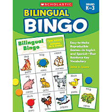 Scholastic Bilingual Bingo 80 Pages 40