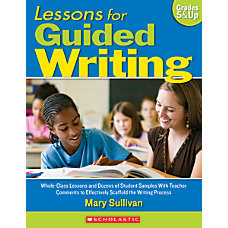 Scholastic Lessons For Guided Writing