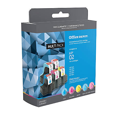 officemax brand om99906 hp 02 c8771wnc8772wnc8773wnc8774wnc8775wn remanufactured cyan magenta. Black Bedroom Furniture Sets. Home Design Ideas