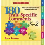 Scholastic 180 Trait Specific Comments Grades