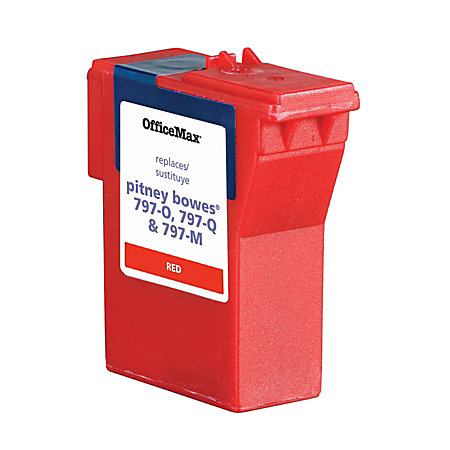 officemax color printing cost per page - officemax brand ink refill for pb mail station k700 red by