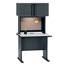 Bush OfficePro Hutch Hansen CherryGalaxy