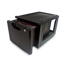 Iris Lockable Storage Drawer Black