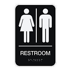 Cosco ADA MensWomensUnisex Restroom Sign