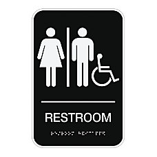 Cosco ADA Room Accessible Restroom Sign