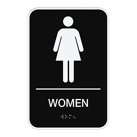 COSCO ADA Men Women Combo Pack Restroom Signs  Pack Of 2. COSCO ADA MenWomen Combo Pack Restroom Signs Pack Of 2 by Office