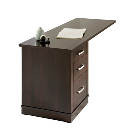 sauder office port collection library return dark alder by