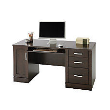 Sauder Office Port Computer Credenza Dark