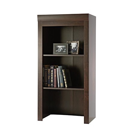 sauder office port collection library hutch dark alder by office depot