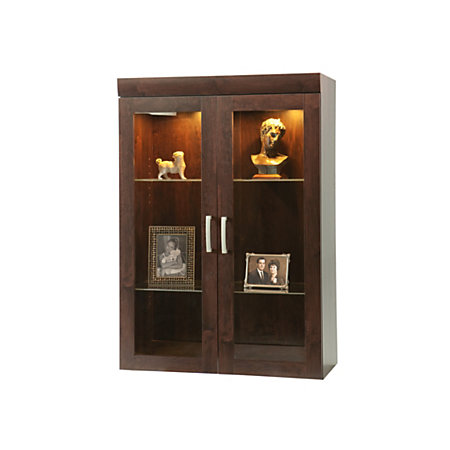 sauder office port collection display hutch dark alder by office depot