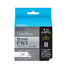 Epson LabelWorks LC 4TBN9 Black On