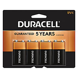 Duracell Coppertop 9 Volt Alkaline Batteries