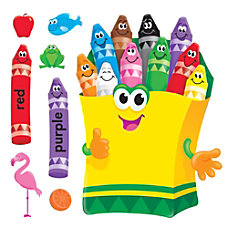 TREND Colorful Crayons Bulletin Board Set