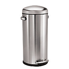 simplehuman Round Brushed Stainless Steel Retro