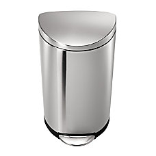 simplehuman Semi Round Brushed Stainless Steel