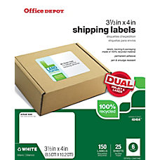 Office Depot Brand Mailing Labels 100percent