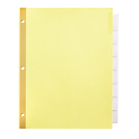 office depot divider templates office depot brand insertable tab dividers clear tabs buff