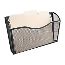 OfficeMax Mesh Wall Letter Files Black