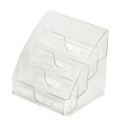 Officemax 4 tier business card holder by office depot for Officemax business card holder