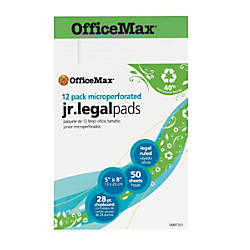 OfficeMax Recycled Perforated Pad 5 x