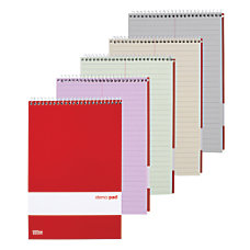 OfficeMax Assorted Steno Notebooks Pastel 6