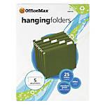OfficeMax Hanging Folders Standard Green Letter