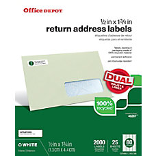 Office Depot Brand Mailing Labels 12