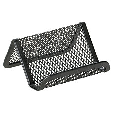 OfficeMax Mesh Business Card Holder Black