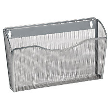 OfficeMax Mesh Wall Letter File Silver