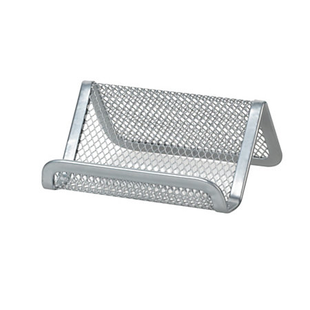 Officemax mesh business card holder silver by office depot for Mesh business card holder