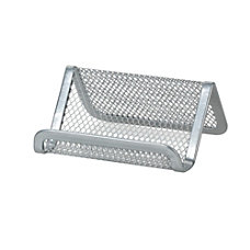 OfficeMax Mesh Business Card Holder Silver