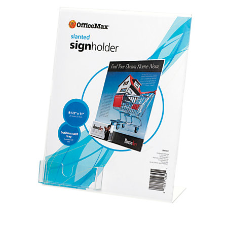 Officemax sign holder with business card holder for Officemax business card holder