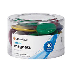 OfficeMax Brand Heavy Duty Magnets 30pk
