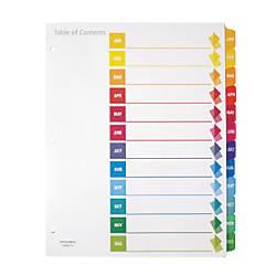 Office Depot Brand Preprinted Index Dividers