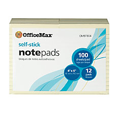 OfficeMax Removable Notes 4 x 6
