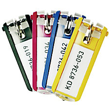 Durable Key Tags Assorted Colors Pack