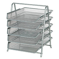Officemax steel mesh 5 tier file tray letter size 14 34 x 13 34 x 11