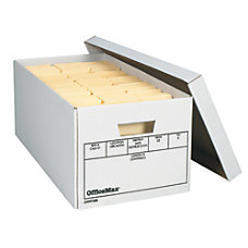 OfficeMax Medium Duty Storage Boxes Letter