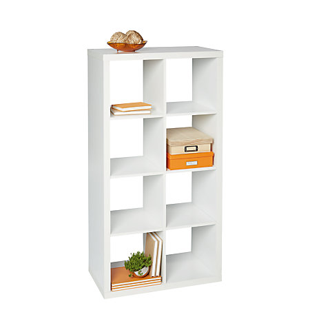 Bon Studio Cube Bookcase 8 White